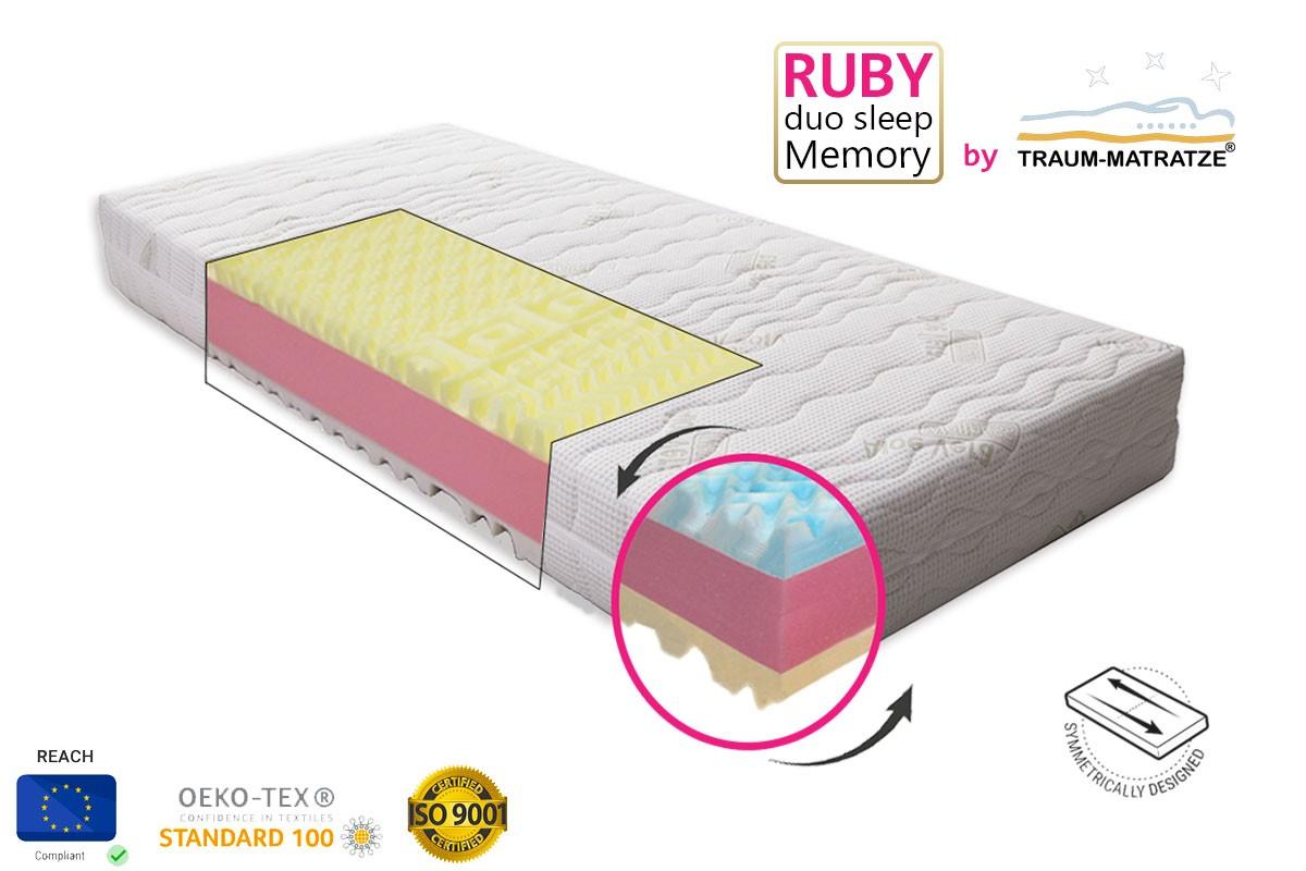 RUBY duo sleep Memory matrac