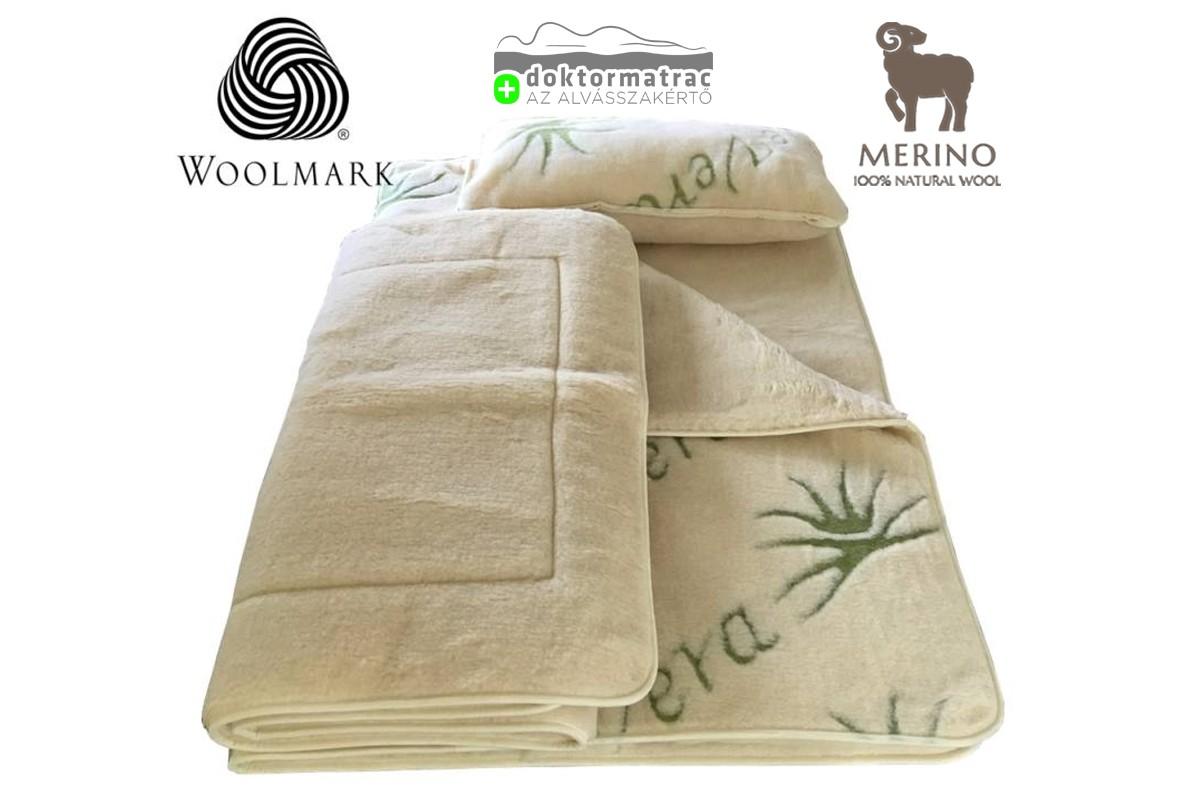 520g/m2 Woolmark Merino Bárány gyapjú AloeVera garnitúra
