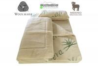 gyapjú garnitúrák  : 520g/m2 Woolmark Merino Bárány gyapjú AloeVera garnitúra