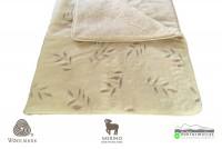 gyapjú garnitúrák  :  520g/m2 Woolmark Merino Bárány OLIVA mintás gyapjú garnitúra