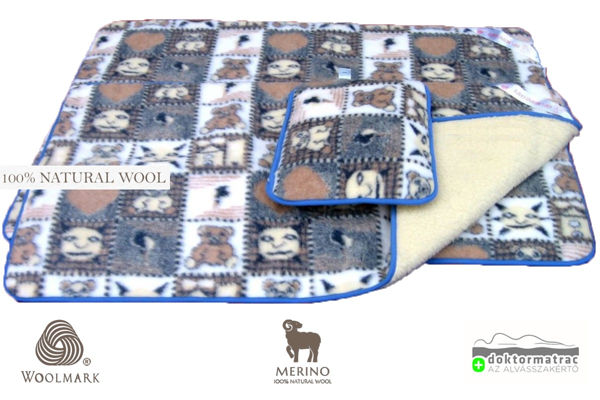 Woolmark Merino Bárány gyapjú gyermek garnitúra 450g/m2
