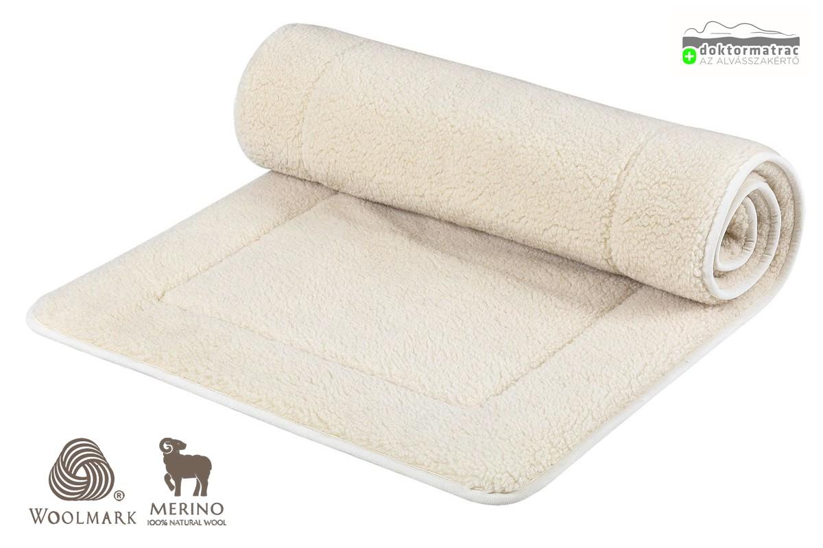 Woolmark Merino Bárány 450g/m2 gyapjú derékalj