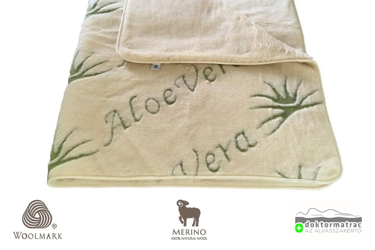 520g/m2 Woolmark Merino Bárány Aloe Vera gyapjú derékalj
