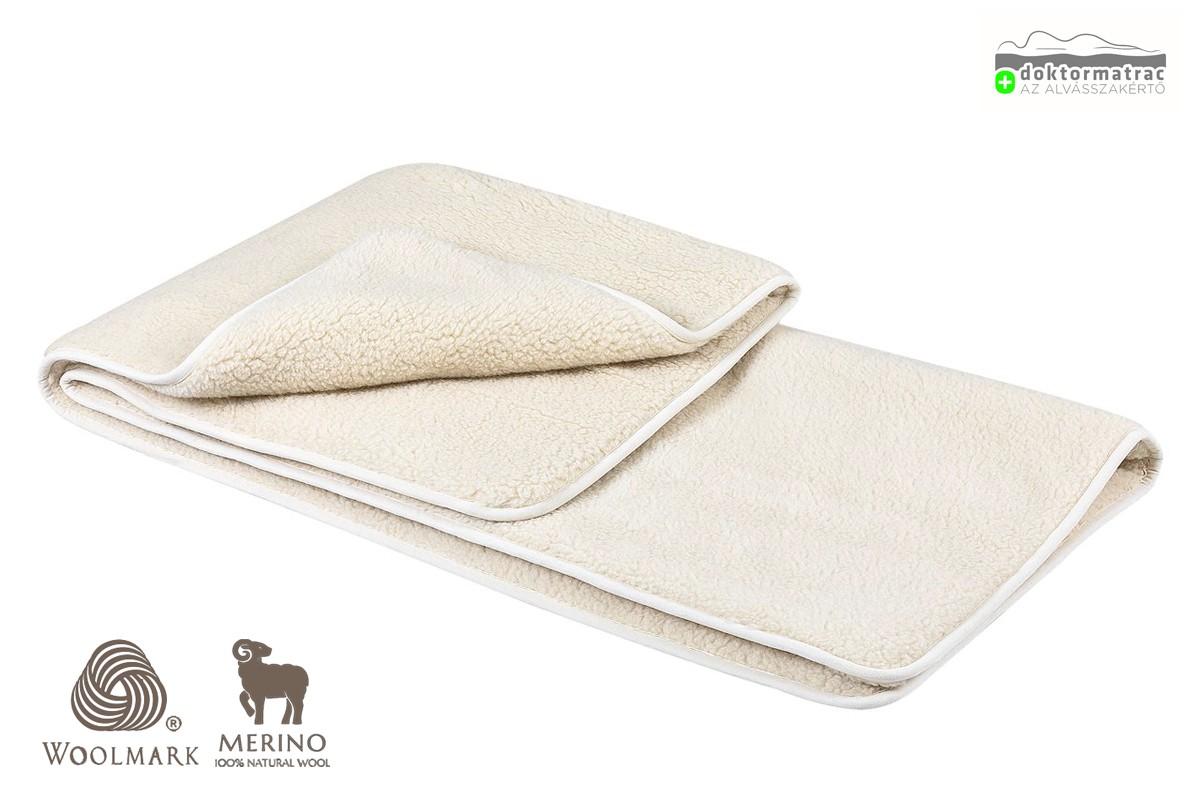 Woolmark Merino Bárány 450g/m2 gyapjú takaró