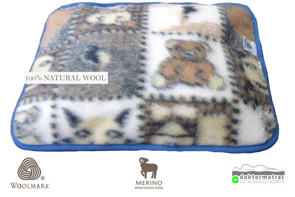 450g/m2 Woolmark Merino Bárány gyapjú gyermek párna